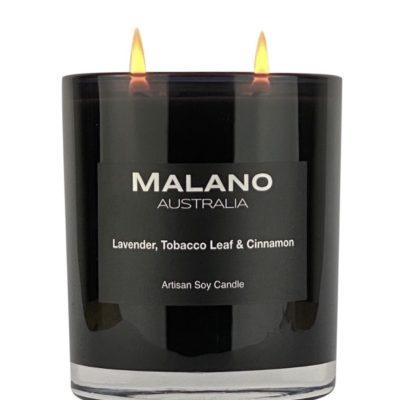 Lavender, Tobacco Leaf & Cinnamon Soy Candle