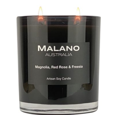 Candle Magnolia, Red Rose & Freesia